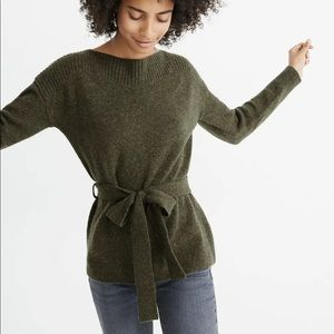 Madewell Boatneck Tie Waist Pullover Sweater XS